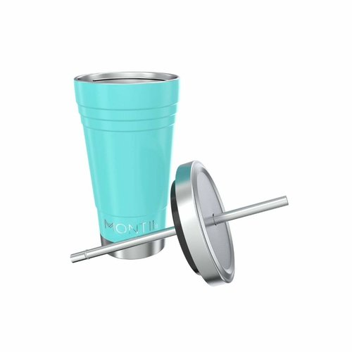 MontiiCo Stainless Steel Smoothie Cup - Aqua