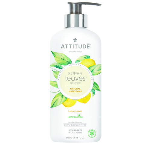 Attitude Natural Hand Soap - Lemon Leaves