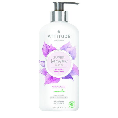 Attitude Natural Hand Soap - White Tea Leaves
