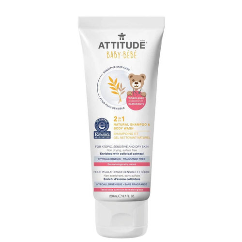 Attitude Baby 2-in-1 Natural 2-in-1 Shampoo & Body Wash