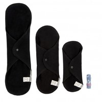 Trial Package Washable Sanitary Cloth Pads - Black