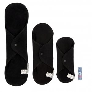 ImseVimse Trial Package Washable Sanitary Cloth Pads - Black