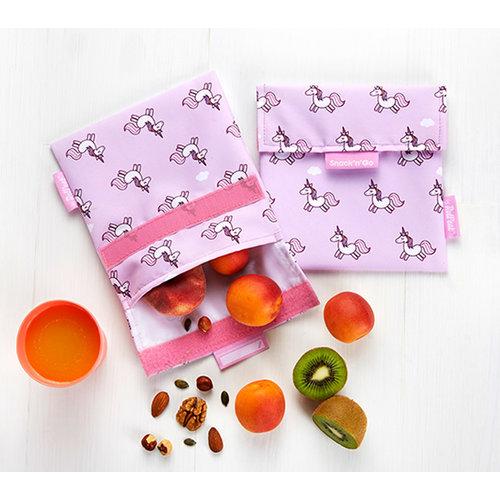 Roll'Eat Snack'n'Go Herbruikbaar Boterhamzakje - Unicorns