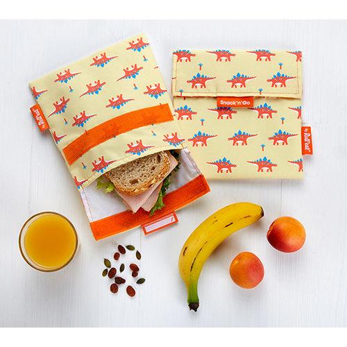 Roll'Eat Snack'n'Go Herbruikbaar Boterhamzakje - Dino
