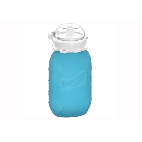 Squeasy Gear Silicone Squeeze Bottle 180ml bag - Blue