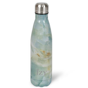 IZY RVS Drinkfles Thermosfles (500ml) - Green Marble