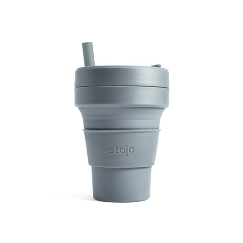 Stojo Foldable Coffee Cup 470ml - Grey