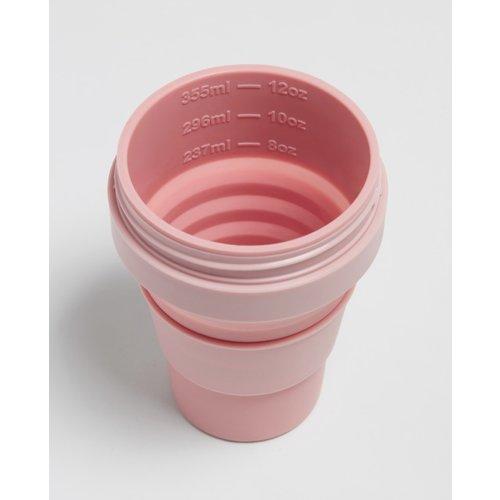 Stojo Foldable Coffee Cup 355ml - Pink