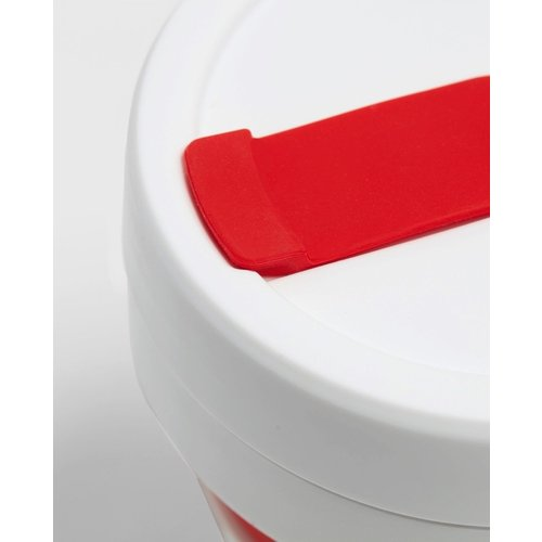 Stojo Foldable Coffee Cup 355ml - Red/White