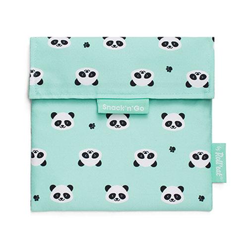 Roll'Eat Snack'n'Go Herbruikbaar Boterhamzakje - Panda