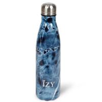RVS Drinkfles Thermosfles (500ml) - Marmer Blauw