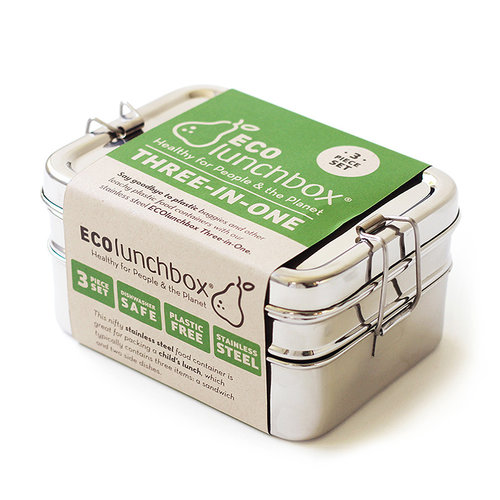 Eco Lunchbox RVS Lunchbox 3-in-1 Giant