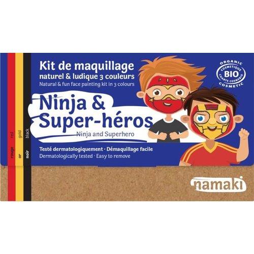 Namaki Natural Face paint - Ninja & Superhero (3 Colors)