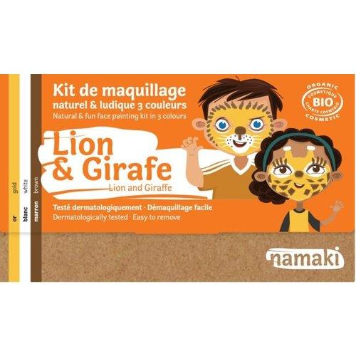 Namaki Natural Face paint - Lion & Giraffe 3 (Colors)