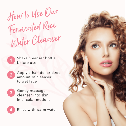 100% Pure Fermented Rice Water Cleanser