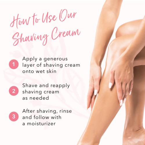 100% Pure Pink Grapefruit Seaweed Shaving Cream