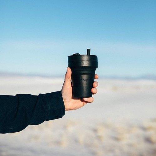 Stojo Opvouwbare Koffiebeker 470ml - Zwart