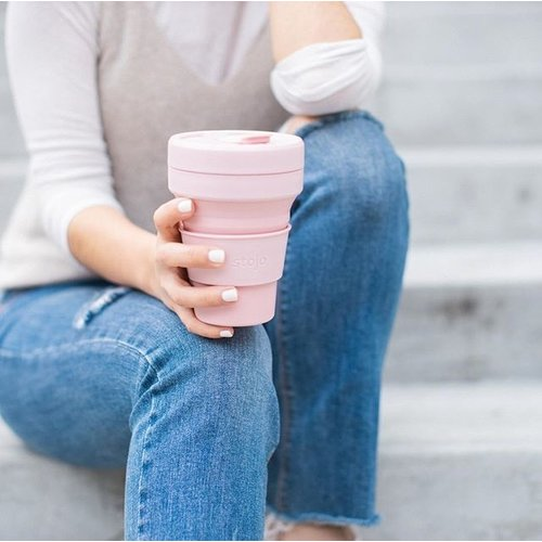 Stojo Opvouwbare Koffiebeker 470ml - Roze