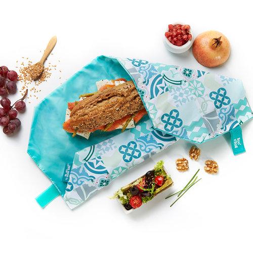 Roll'Eat Boc'n'Roll Foodwrap - Patchwork Groen