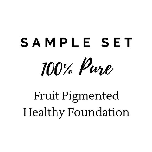 100% Pure Sample Set Fruit Pigmented Healthy Foundation