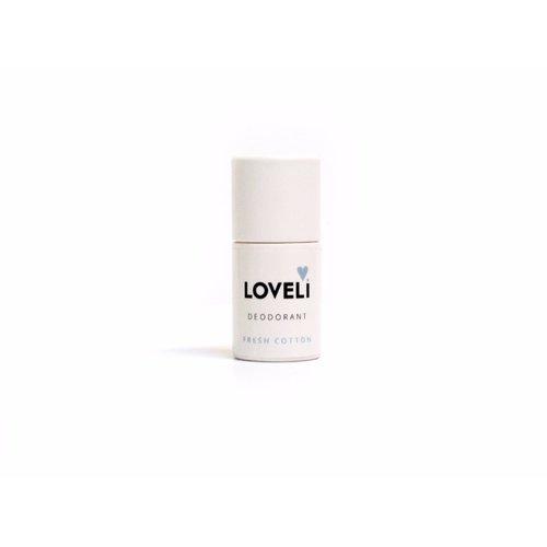 Loveli Deodorant Zonder Aluminium - Fresh Cotton Mini (6g)