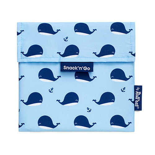 Roll'Eat Snack'n'Go Reusable Sandwich Bag - Whales