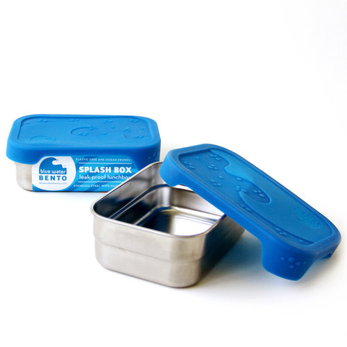 Blue Water Bento RVS Lunchbox Eco Splash Box Lekvrij