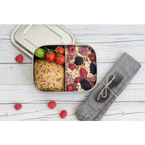 Lekkabox RVS Lunchbox - 2 Vakken