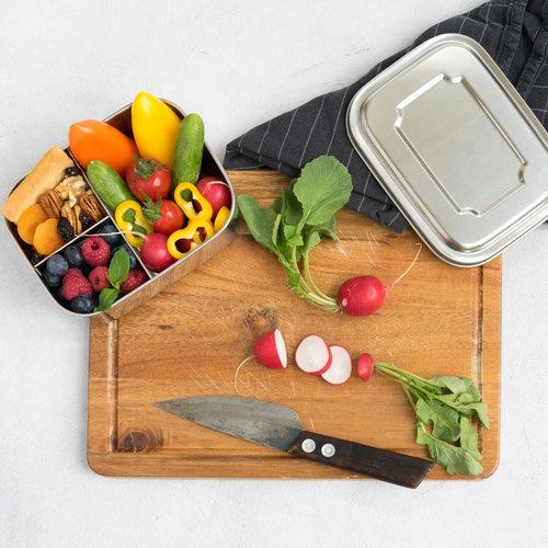 Lekkabox RVS Lunchbox - 3 Vakken