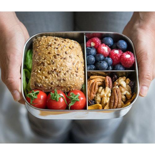 Lekkabox Stainless Steel Lunchbox - 3 Compartments