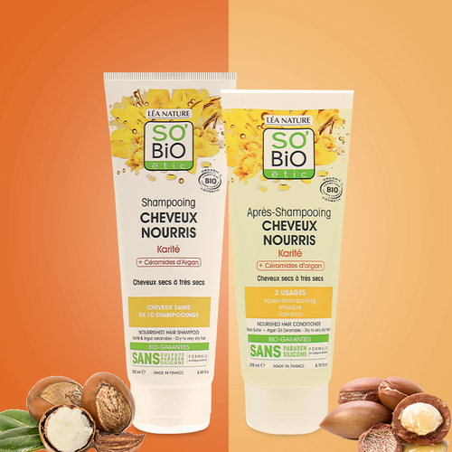So'Bio Étic Shampoo - Nourished Hair Argan Ceramids