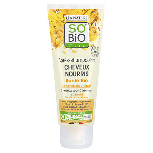 So'Bio Étic Conditioner - Nourished Hair Argan Ceramids