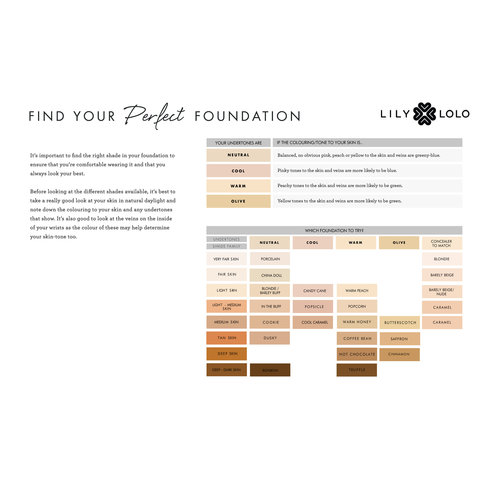 Lily Lolo Mineral Foundation  - Sample