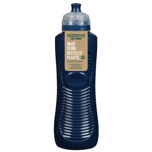 Sistema Renew Drinkfles Gripper 800ml - Donkerblauw