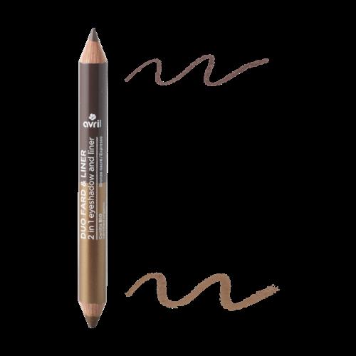 Avril 2 in 1 Eyeshadow & Liner Expresso/Bronze Nacré