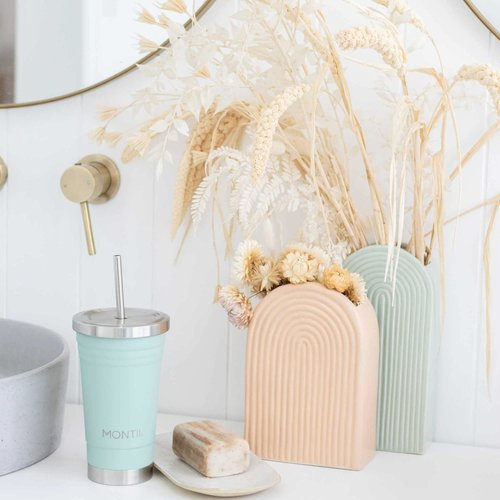 MontiiCo Stainless Steel Smoothie Cup - Eucalyptus