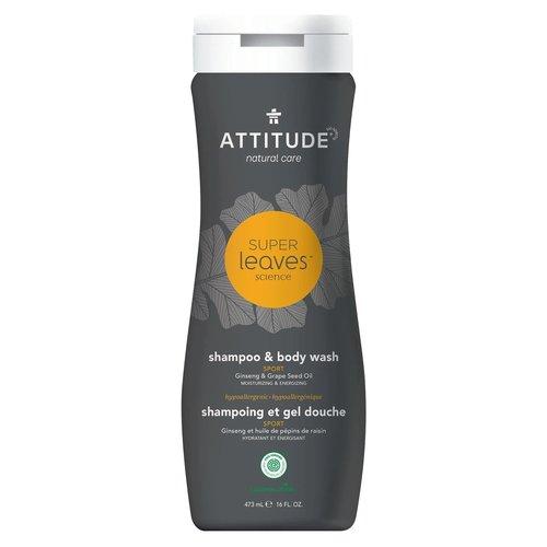 Attitude Super Leaves Men 2-in-1 Shampoo & Body Wash - Sports