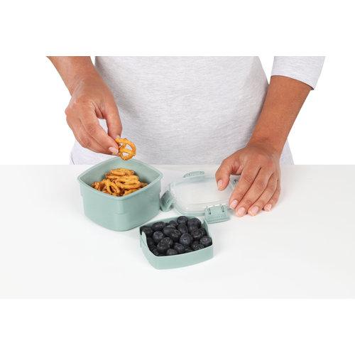 Sistema Renew Snack To Go Bakje - Licht Blauw/Groen