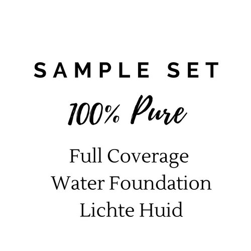 100% Pure Sample Set Full Coverage Water Foundation - Lichte Huid