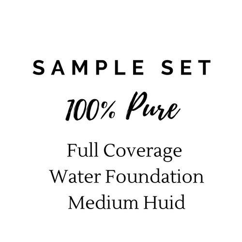 100% Pure Sample Set Full Coverage Water Foundation - Medium Huid
