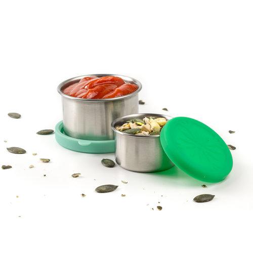 Lekkabox RVS Mini Sausbakje Set van 2 - Mint