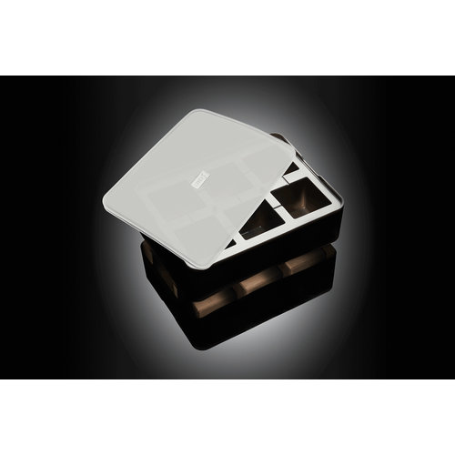Lurch Siliconen Ijsblokjesvorm met Deksel 5x5cm