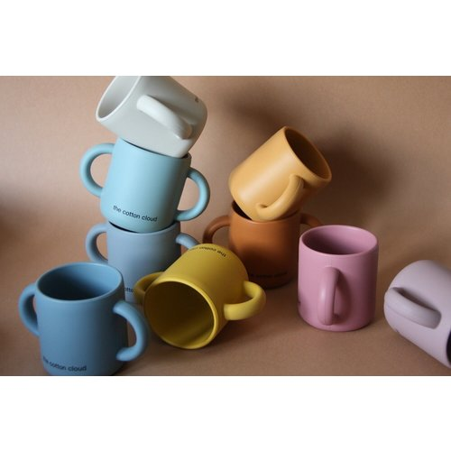 The Cotton Cloud Silicone Cup With Handles - Wild Rose