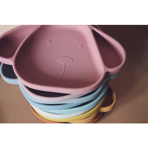 The Cotton Cloud Silicone Plate Milo with Suction Cup - Wild Rose