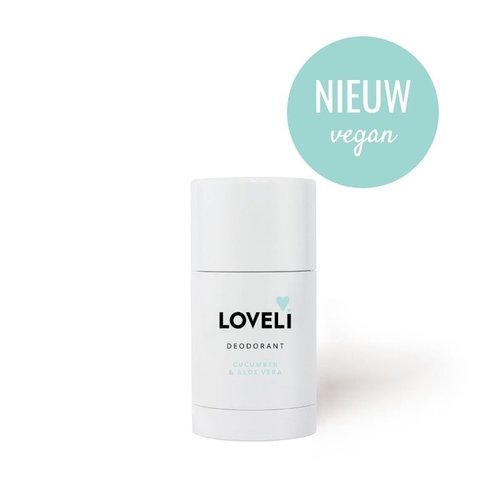 Loveli Deodorant Zonder Aluminium Vegan - Cucumber & Aloe Vera