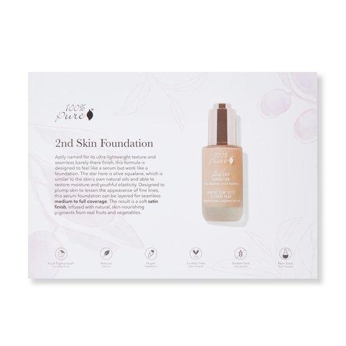 100% Pure Sample Set 2nd Skin Foundation