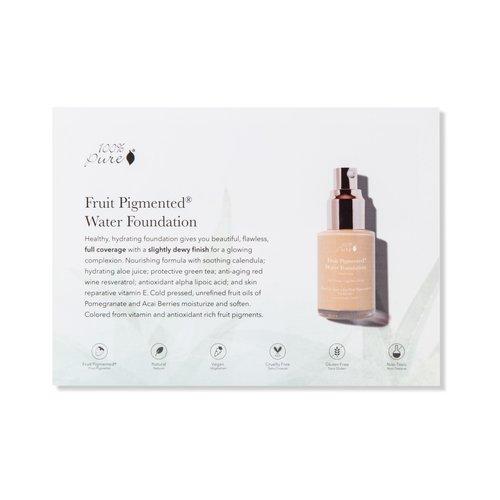 100% Pure Sample Set Full Coverage Water Foundation - Dark