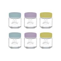 Set van 6 Glazen Babyvoeding Potjes (110ml)