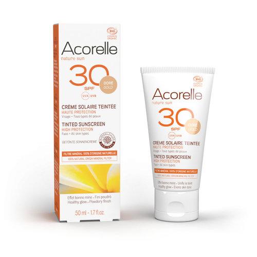 Acorelle Tinted Sunscreen Spf 30  - Gold Colour