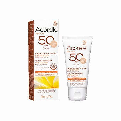 Acorelle Tinted Sunscreen Spf 50  -  Light Colour